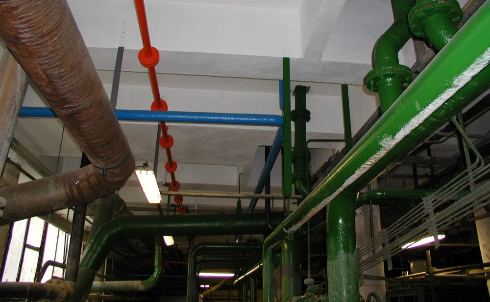 Chemical water treatment plant hall