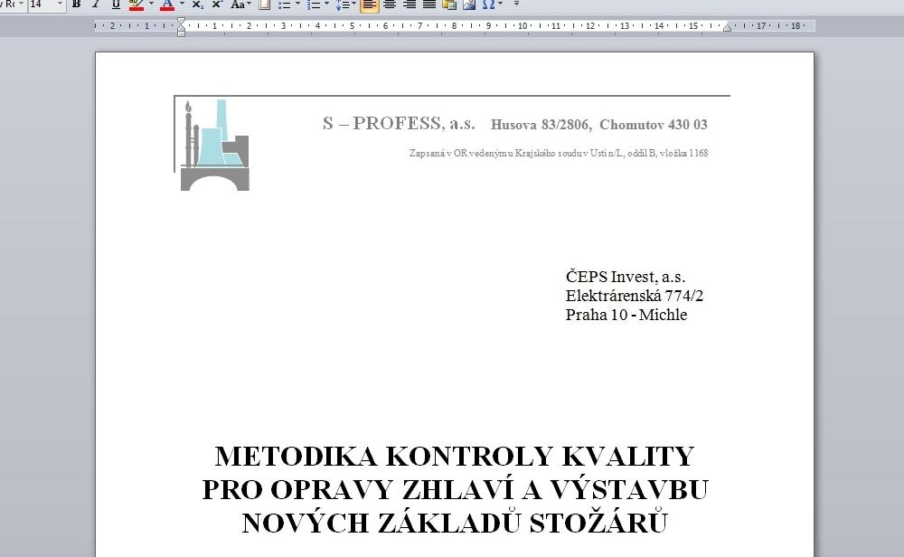 ČEPS – Quality inspection methodology